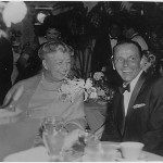 Eleanor Roosevelt with Frank Sinatra at the Girls Town Ball in Florida on March 12, 1960